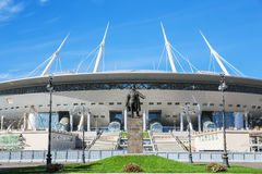 The view of the new football Saint-Petersburg Stadium (Krestovsky) ander construction Stock Photos