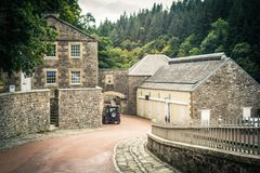 View of New Lanark Heritage Site, Lanarkshire in Scotland, United Kingdom. View of New Lanark Heritage Site, Lanarkshire in Scotland, United Kingdom, Europe royalty free stock photography