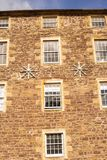 Old, historical building in New Lanark Heritage Site, Scotland.. View of New Lanark Heritage Site, Lanarkshire in Scotland, United Kingdom, Europe Royalty Free Stock Photo