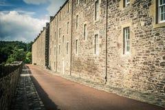 View of New Lanark Heritage Site, Lanarkshire in Scotland, United Kingdom. Europe Royalty Free Stock Photo