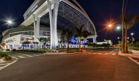 View of new Marlins Park royalty free stock photos