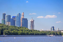 View on new Moscow City buildings, Russia Royalty Free Stock Photo