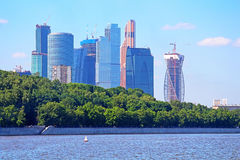 View on new Moscow City buildings, Russia Stock Images