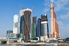 View on new Moscow City buildings in summer Stock Photo