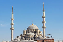 View of the New Mosque in Istanbul, Turkey Stock Photos