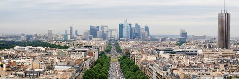 View of new Paris city - La Defense Stock Photo