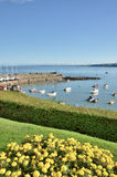 View of New Quay harbour, Cardigan Bay. Stock Photos