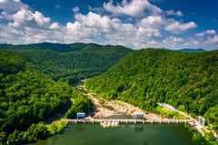 View of the New River from Hawk's Nest State Park, West Virginia royalty free stock photos
