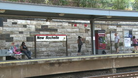 View of New Rochelle station (5 of 6) stock footage