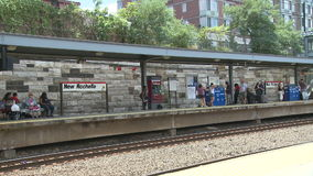 View of New Rochelle station (6 of 6) stock footage