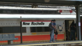 View of New Rochelle station (3 of 6) stock video footage