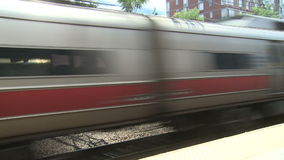 View of New Rochelle station stock footage