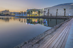 View on new shopping and entertainment center in Eilat, Israel Stock Image
