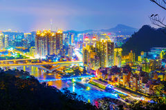 View of New Taipei city buildings Stock Images