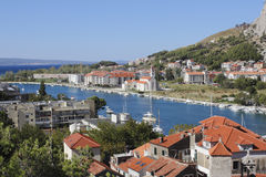 View of the new town of Omis Royalty Free Stock Image