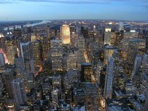 View of New York. Sunset View from Empire State Building Stock Photography