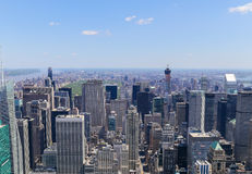View of New York. Aerial View of Midtown Manhattan in New York City Royalty Free Stock Image