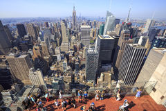 View of New York City as seen from the Rockefeller Center Observation Deck Stock Photos