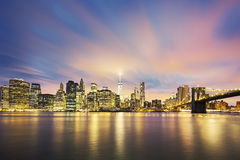 View of New York City Manhattan midtown at dusk Stock Photography