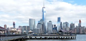 View of New York city from New Jersey 2 Stock Photos