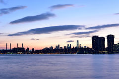 View of New York City from Queens Royalty Free Stock Image