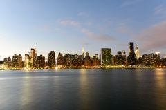 View of New York City from Queens Stock Photography
