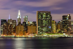 View of New York City from Queens Royalty Free Stock Photos