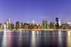 View of New York City from Queens Stock Photo