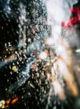 View of New York City on Rainy Evening Stock Image