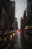 View of New York City on Rainy Evening Royalty Free Stock Photo