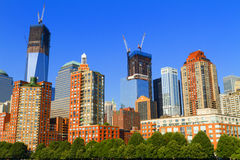 View of New York City, USA, Freedom Tower and the World Trade C Royalty Free Stock Photo