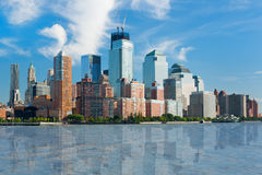 View on New York from Hudson river Stock Photography