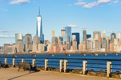View of New York from Jersey City Royalty Free Stock Images