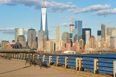 View of New York from Jersey City Stock Image