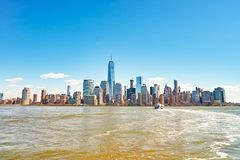 View of New York from Jersey City Royalty Free Stock Image