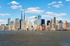 View of New York from Jersey City Royalty Free Stock Photos
