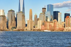 View of New York from Jersey City Stock Photography