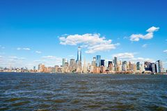 View of New York from Jersey City Stock Photo