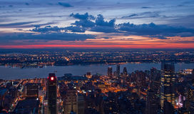 View on New York and New Jersey Stock Photo