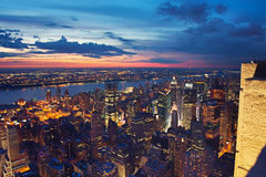 View on New York at night Stock Photo