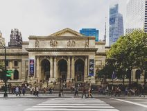 View of the New York Public Library in Manhattan Royalty Free Stock Images