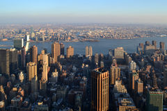 View of the New York from skyscraper Empire State Building Stock Image