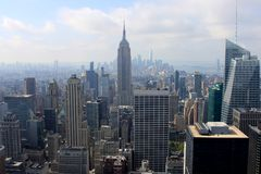 View of New York, USA. View of New York from the Top of the Rock building, USA Royalty Free Stock Photos