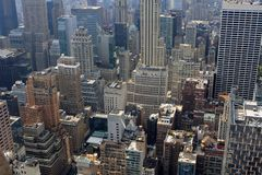 View of New York, USA. View of New York from the Top of the Rock building, USA Royalty Free Stock Photography