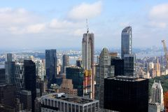 View of New York, USA. View of New York from the Top of the Rock building, USA Royalty Free Stock Images