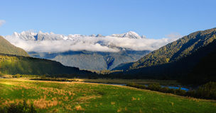 View of New Zealand mountains Stock Photos