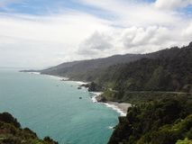 View of new zealand`s west coast. The west coast of new zealand`s south island is really beautiful and almost unpopulated Stock Image