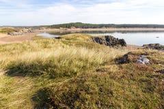 View of Newborough Beach, Anglesey Stock Photos