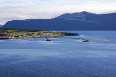 View of a Newfoundland harbour Royalty Free Stock Images