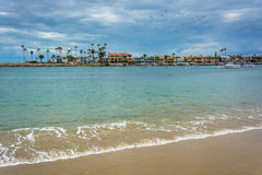 View of Newport Beach from Corona del Mar  Stock Photography